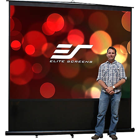 """Elite Screens Reflexion Series - 120-INCH 4:3, Manual Pull Up, Movie Home Theater 8K / 4K Ultra HD 3D Ready, 2-YEAR WARRANTY, FM120V"""""""