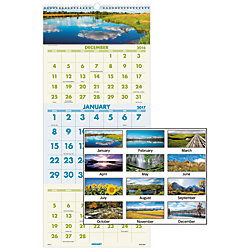 at a glance visual organizer vertical monthly recycled wall calendar 12
