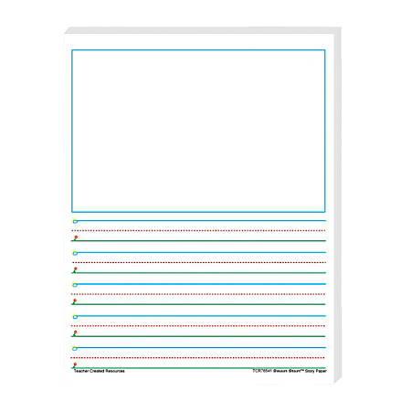"Teacher Created Resources® Smart Start 1-2 Story Filler Paper, 11"" x 8 1/2"", 100 Sheets (200 pages), Pack Of 4"