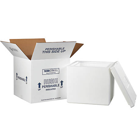 """Office Depot® Brand Insulated Shipping Kit, 11 1/2""""H x 12""""W x 12""""D, White"""