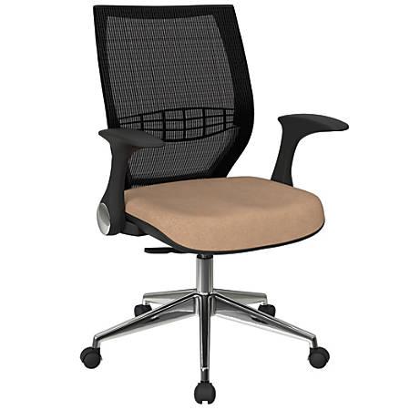 Office Star™ Pro-Line II ProGrid Fabric High-Back Chair, Angora/Black/Silver