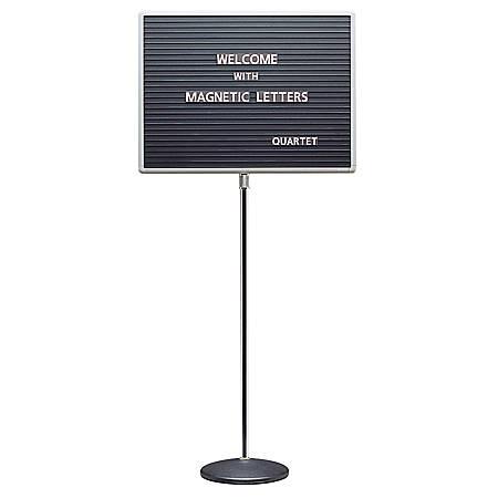 "Quartet® Standing Magnetic Letter Board, 24""H x 18""W"