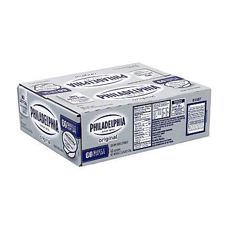 Kraft Philadelphia Original Cream Cheese Single-Serve Cups, 1 Oz, Pack Of 60 Cups