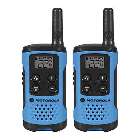 Motorola Talkabout T100 Two-Way Radio, Neon Blue
