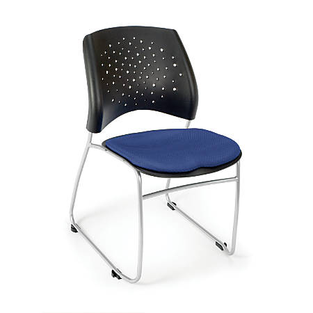 OFM Stars And Moon Stack Chairs, Royal Blue, Set Of 4
