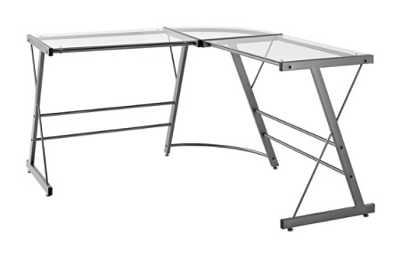 Ameriwood Home Gl L Shaped Computer Desk Gray By Office Depot Officemax