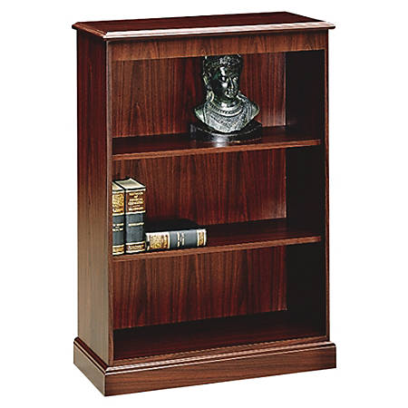HON® 94000 Series™ 3-Shelf Bookcase, Mahogany