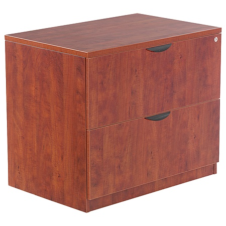 Alera Valencia Series 2 Drawer Lateral File 29 12 H X 35 W 22 D Medium Cherry By Office Depot Officemax