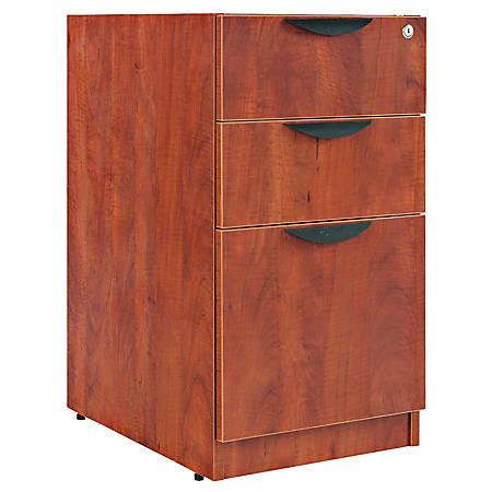 "Alera® Valencia Series Pedestal With 2 Box/1 File Drawers, 28""H x 16""W x 22""D, Medium Cherry"