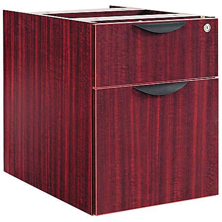 "Alera® Valencia Series 3/4 Box/File Pedestal, 22""H x 16""W x 22""D, Mahogany"