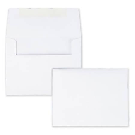 "Quality Park® Invitation Envelopes, 4 3/8"" x 5 3/4"", White, Box Of 100"