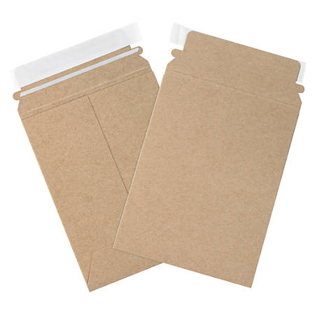"""Partners Brand Kraft Utility Flat Mailers 6"""" x 9"""", Pack of 250"""