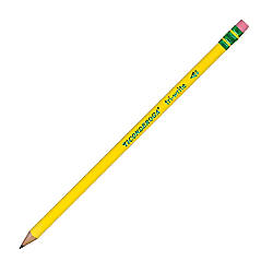 Ticonderoga Tri Write Pencils With Erasers