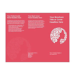 Customizable Trifold Brochure Pink Beauty