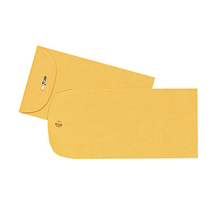 "Quality Park® Clasp Envelopes, #15 (4"" x 6""), Brown, Box Of 100"