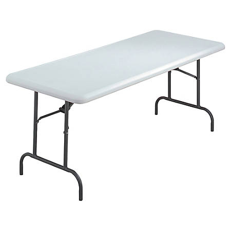"Iceberg IndestrucTable TOO™ 1200-Series Folding Table, 72""W x 30""D, Platinum"