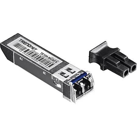 TRENDnet TE100-MGBFX SFP (mini-GBIC) Module - For Optical Network, Data Networking - 1 x 100Base-FX 1 LC Duplex 100Base-FX Network - Optical Fiber50/125 µm, 62.5/125 µm - Multi-mode - Fast Ethernet - 100Base-FX - Hot-pluggable