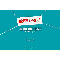 Adhesive Sign Grand Opening Banner Horizontal