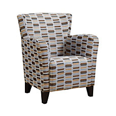 Monarch Specialties Europa Club Chair Earth