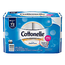 Cottonelle Ultra CleanCare Bath Tissue White