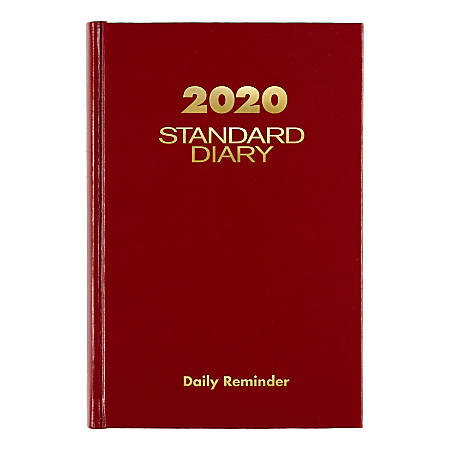 """AT-A-GLANCE® Standard Diary Daily Planner, 5"""" x 7-3/16"""", Red, January To December 2020, SD38713"""