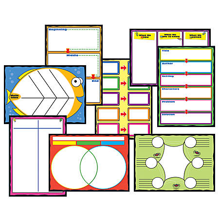 Carson-Dellosa Curriculum Bulletin Board Set: Graphic Organizers