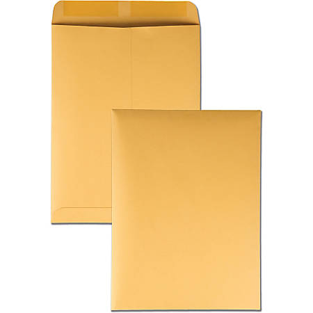 """Quality Park® Catalog Envelopes With Gummed Closure, 9"""" x 12"""", Brown, Box Of 100"""