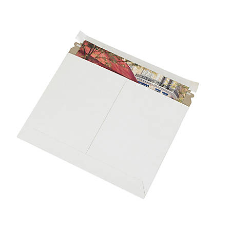 """Partners Brand White Utility Flat Mailers 8"""" x 6"""", Pack of 200"""