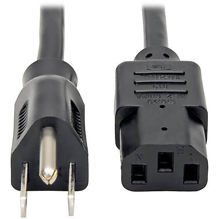 Tripp Lite 12ft Computer Power Cord Cable 5-15P to C13 10A 18AWG 12' - (NEMA 5-15P to IEC-320-C13) 12-ft.