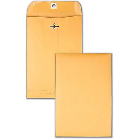 "Quality Park Park Ridge Kraft Clasp Envelopes - Clasp - #55 - 6"" Width x 9"" Length - 24 lb - Gummed - Kraft - 100 / Box - Kraft"