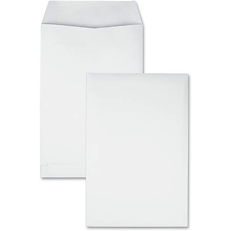 "Quality Park® Redi-Seal® Catalog Envelopes, #28, 6"" x 9"", White, Box Of 100"