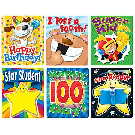 Carson-Dellosa Braggin' Badge Reward Sticker Set