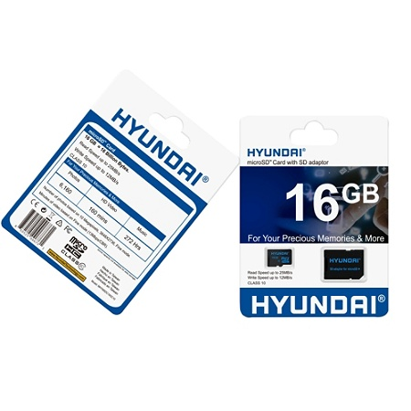 Hyundai 16 GB Class 10/UHS-I (U1) microSDHC - Class 10/UHS-I (U1) - Retail  Item # 5323638