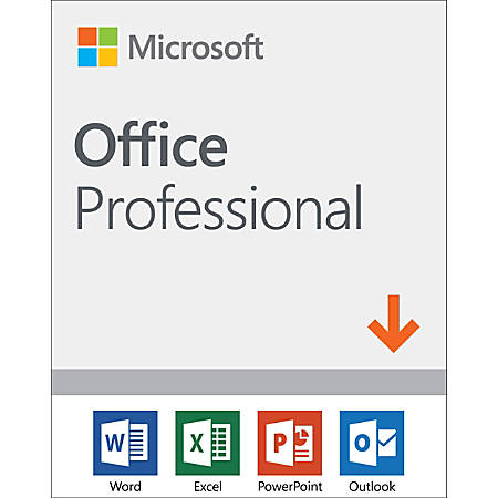 Microsoft® 2019 Software, Office Professional, For 1 PC Device, Download Version