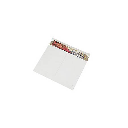 """Partners Brand White Utility Flat Mailers 11 1/2"""" x 9"""", Pack of 200"""