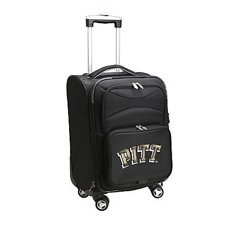 """Denco Sports Luggage Expandable Upright Rolling Carry-On Case, 21"""" x 13 1/4"""" x 12"""", Black, Pittsburgh Panthers"""