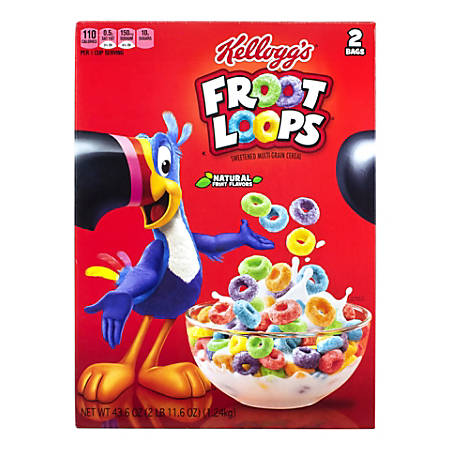 Kellogg's Froot Loops Cereal, 43.6-Oz Box