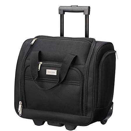 """Overland Geoffrey Beene Underseater Rolling Carry-On Bag, 16""""H x 8""""W x 15""""D, Black"""