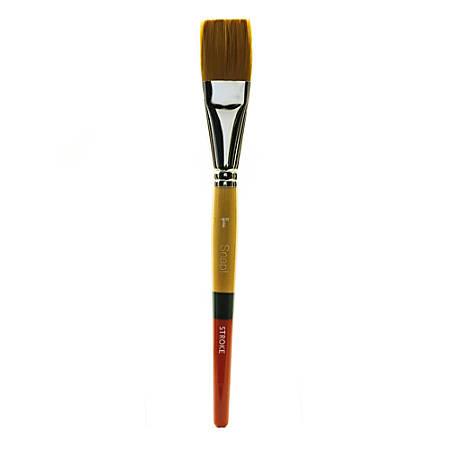 "Princeton Snap Paint Brush, 1"", Stroke Bristle, Golden Taklon, Synthetic, Multicolor"