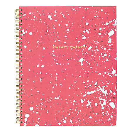 """Cambridge® Flick Weekly/Monthly Planner, 8-1/2"""" x 11"""", Coral, January to December 2020, 1273-905"""