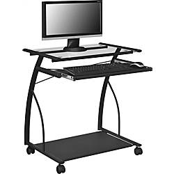 Altra Glass Mobile Computer Cart Black