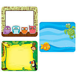 Carson Dellosa Name Tag Set Animals
