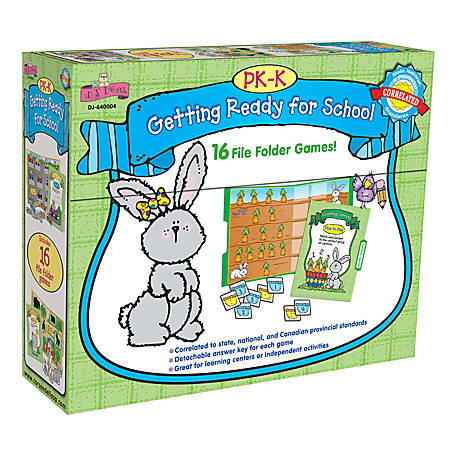 D.J. Inkers File Folder Games To Go™ Set, Getting Ready For School