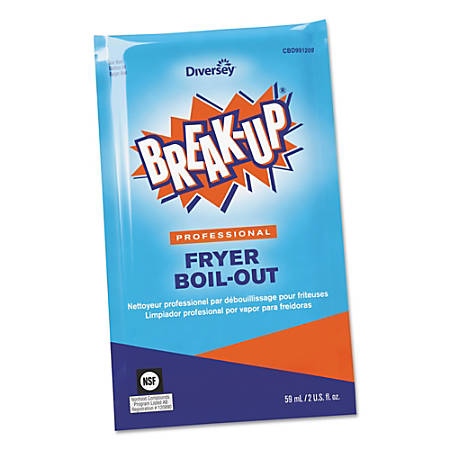BREAK-UP® Fryer Boil-Out Cleaner Packets, 2 Oz, Carton Of 36 Packets