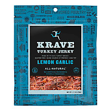 KRAVE Jerky Lemon Garlic Turkey Jerky