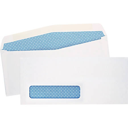 "Quality Park® Single Window Envelopes, #10, 4 1/5"" x 9 1/2"", White, Box Of 500"