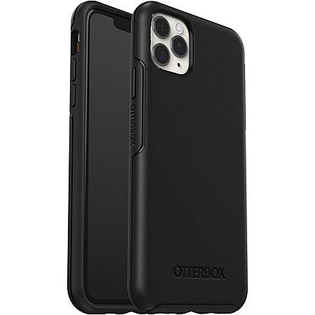 OtterBox Symmetry Series Case for iPhone 11 Pro Max Style Meets Protection - For Apple iPhone 11 Pro Max Smartphone - Black - Drop Resistant - Synthetic Rubber, Polycarbonate