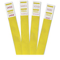 Advantus 500 Pack Tyvek Colored Wrist