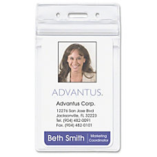 Advantus Vertical Re sealable Badge Holders