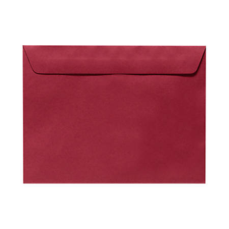 "LUX Booklet Envelopes With Moisture Closure, #9 1/2, 9"" x 12"", Garnet Red, Pack Of 50"